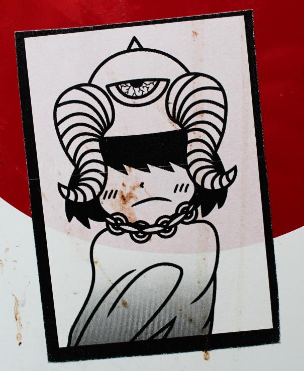 japan's stickers war femme