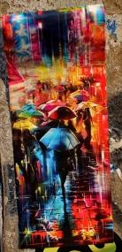japan's stickers war parapluie ville