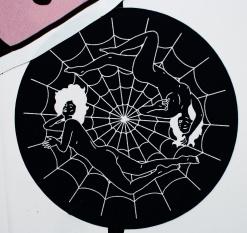 japan's stickers war spiderweb
