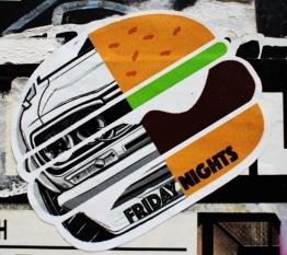 japan's stickers war voiture burger