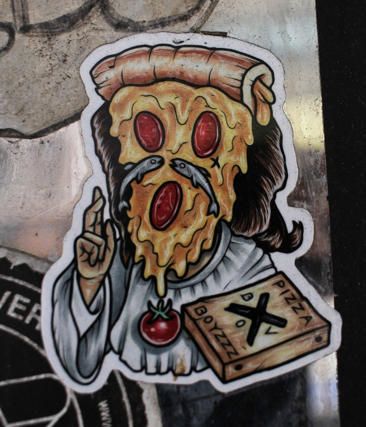 japan's stickers war wtf pizza god