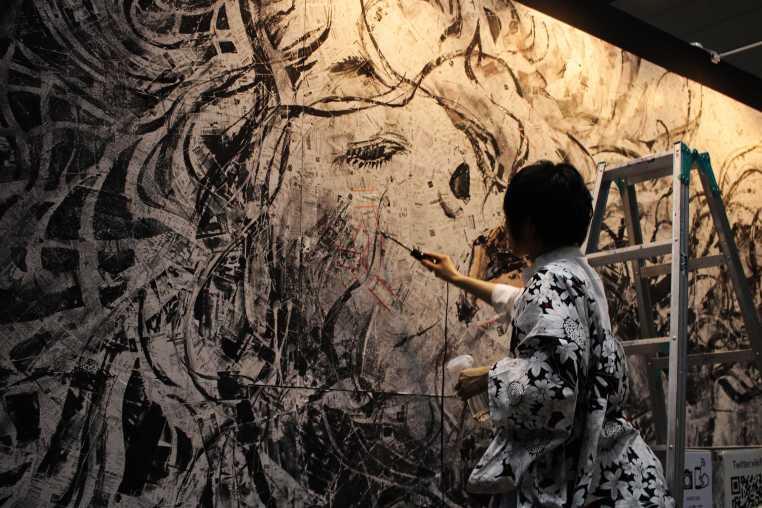 laurent Ibanez tokyo design festa live painting fer à souder 2