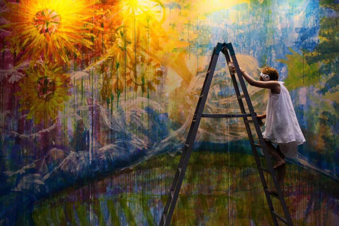 laurent Ibanez tokyo design festa live painting fleurs