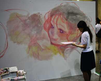 laurent Ibanez tokyo design festa live painting visage1