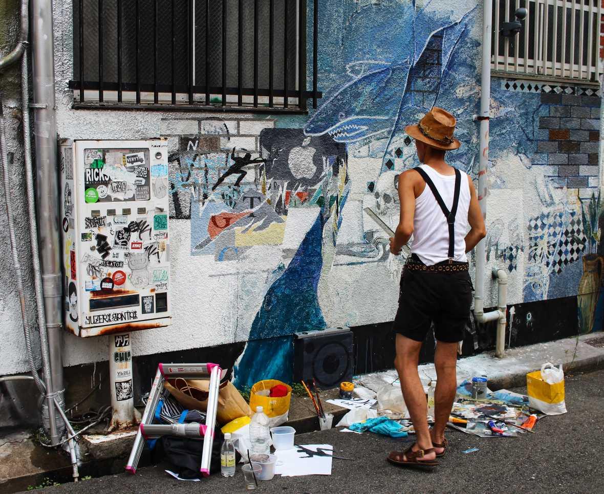 laurent ibanez derriere la colline nakazakicho peinture rue